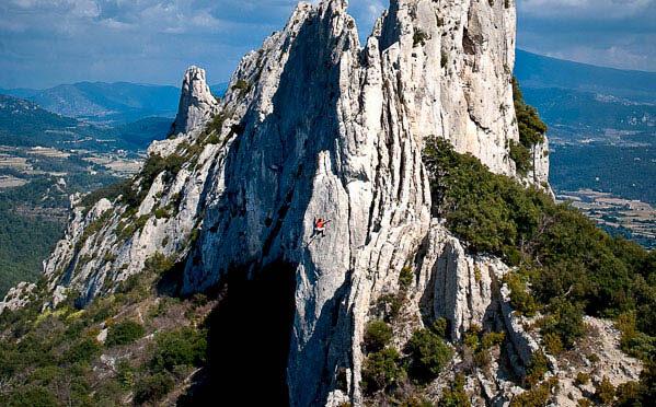 week-end de l 'ascension : grimpe aux Dentelles de Montmirail